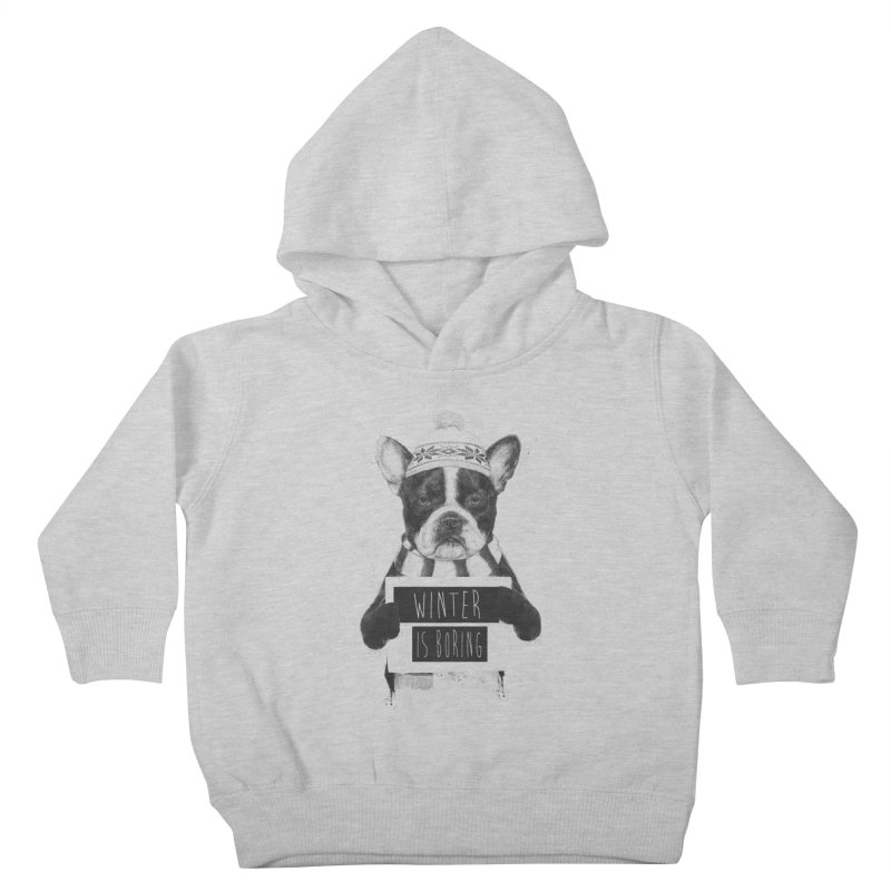 Winter is boring Kids Toddler Pullover Hoody by Balazs Solti