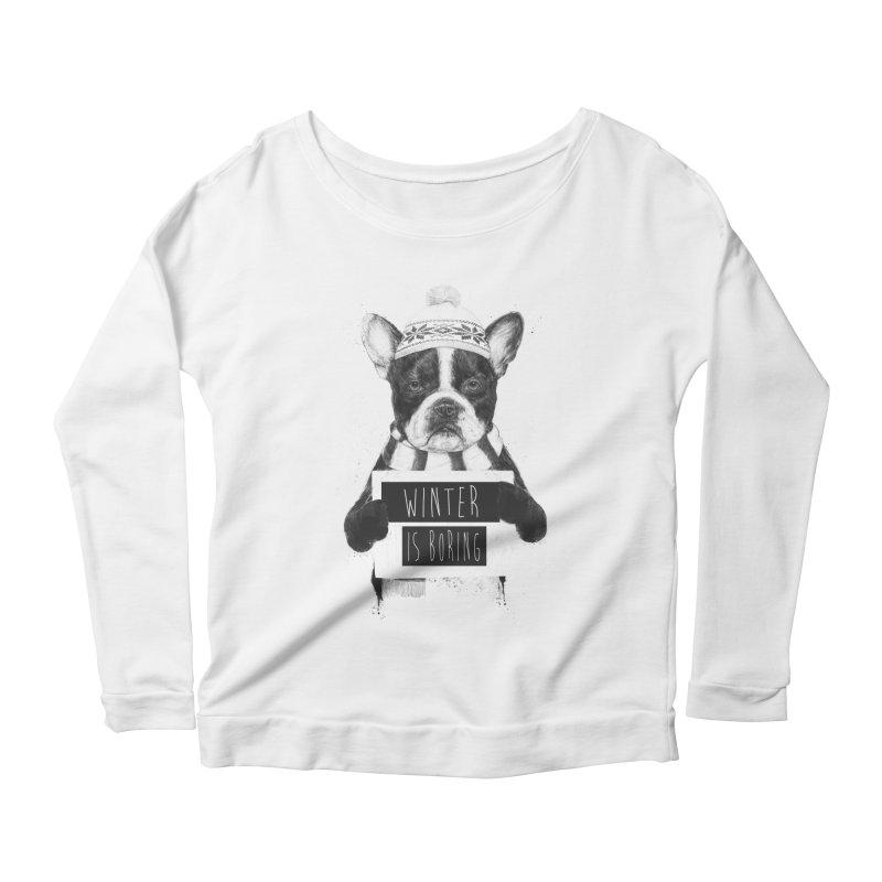Winter is boring Women's Scoop Neck Longsleeve T-Shirt by Balazs Solti