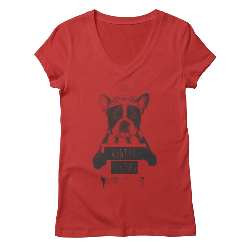 Winter is boring Women's Regular V-Neck by Balazs Solti