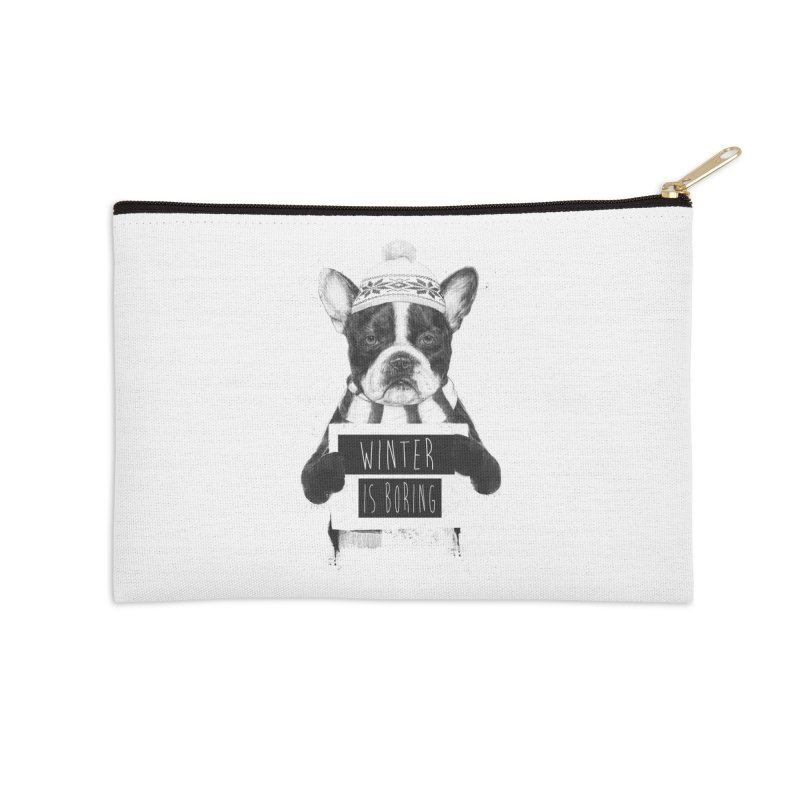Winter is boring Accessories Zip Pouch by Balazs Solti