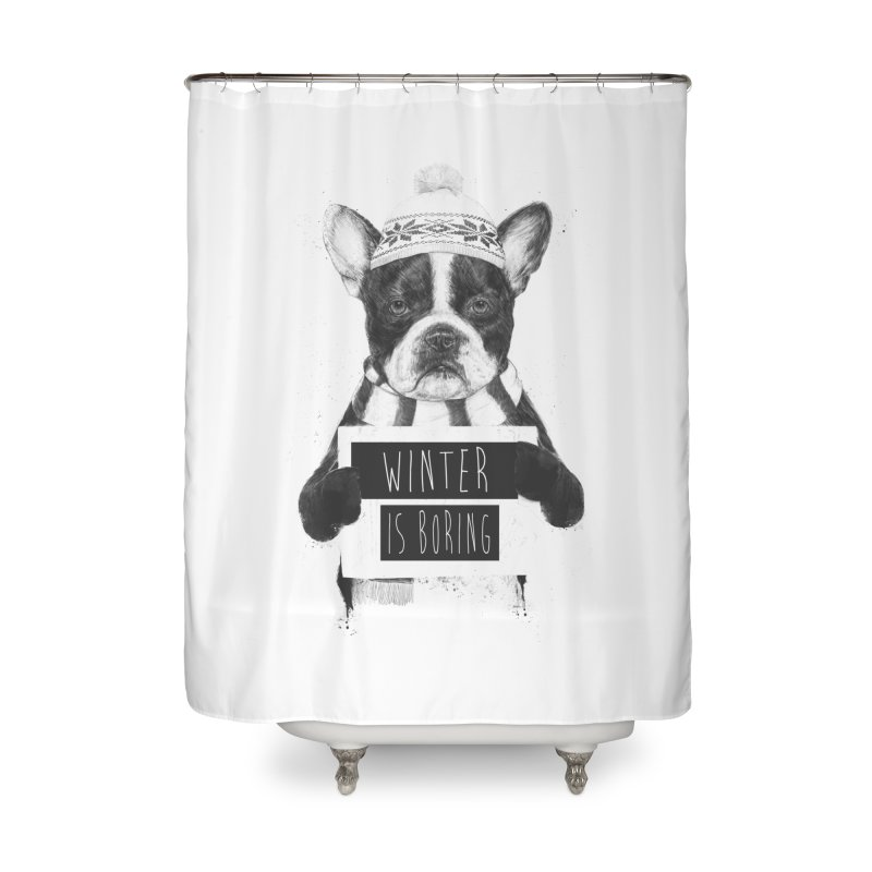 Winter is boring Home Shower Curtain by Balazs Solti
