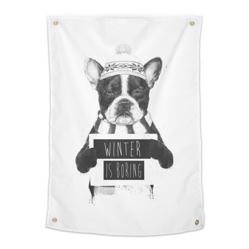 Winter is boring Home Tapestry by Balazs Solti