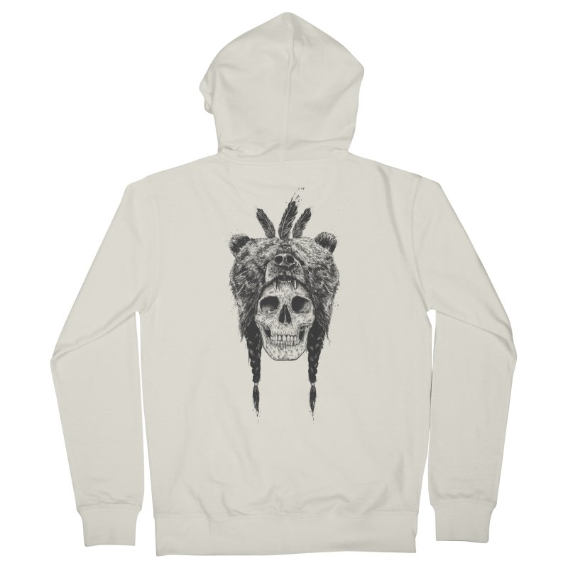 Dead shaman Men's Zip-Up Hoody by Balazs Solti
