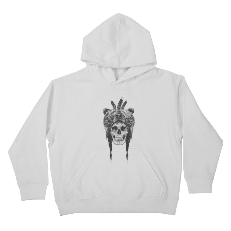 Dead shaman Kids Pullover Hoody by Balazs Solti