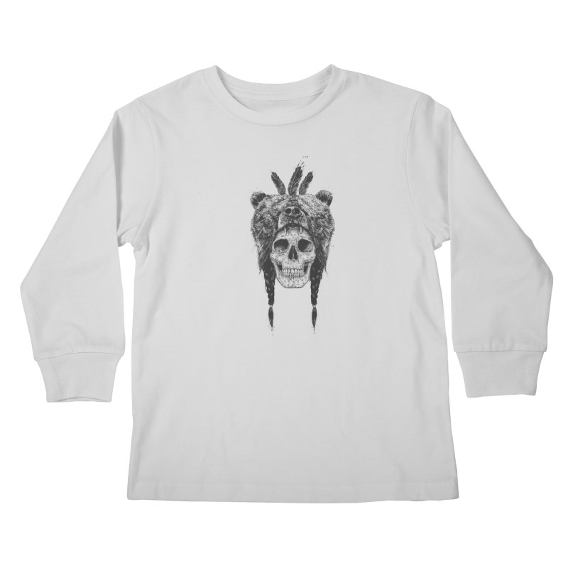 Dead shaman Kids Longsleeve T-Shirt by Balazs Solti