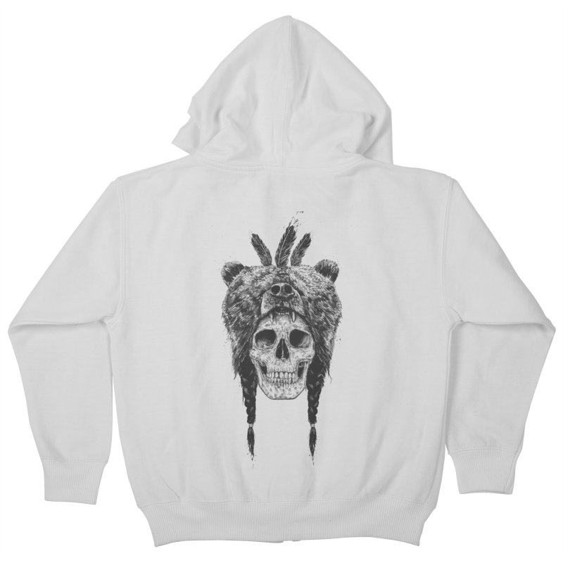 Dead shaman Kids Zip-Up Hoody by Balazs Solti