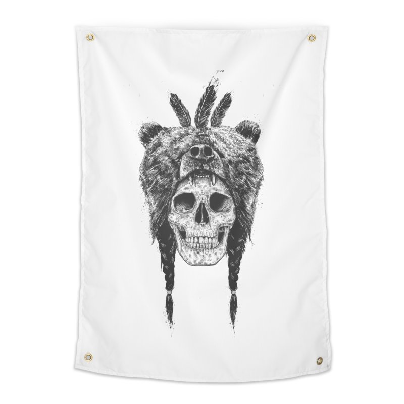 Dead shaman Home Tapestry by Balazs Solti