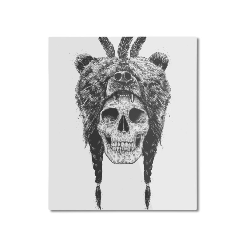 Dead shaman Home Mounted Aluminum Print by Balazs Solti