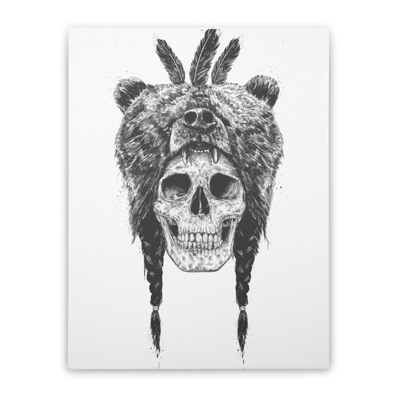 Dead shaman Home Stretched Canvas by Balazs Solti
