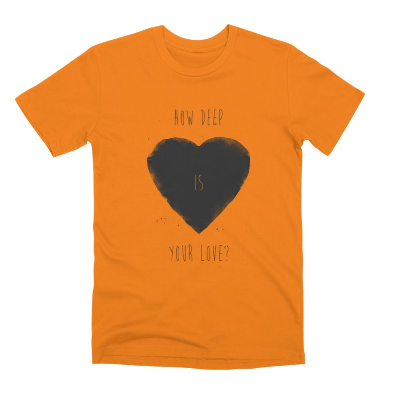 How deep is your love? Men's T-Shirt by Balazs Solti