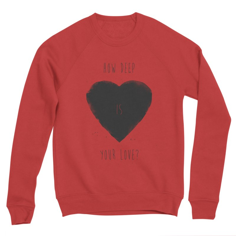 How deep is your love? Men's Sponge Fleece Sweatshirt by Balazs Solti