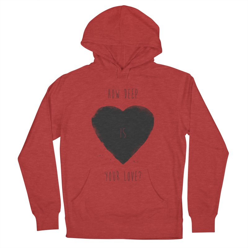 How deep is your love? Women's French Terry Pullover Hoody by Balazs Solti