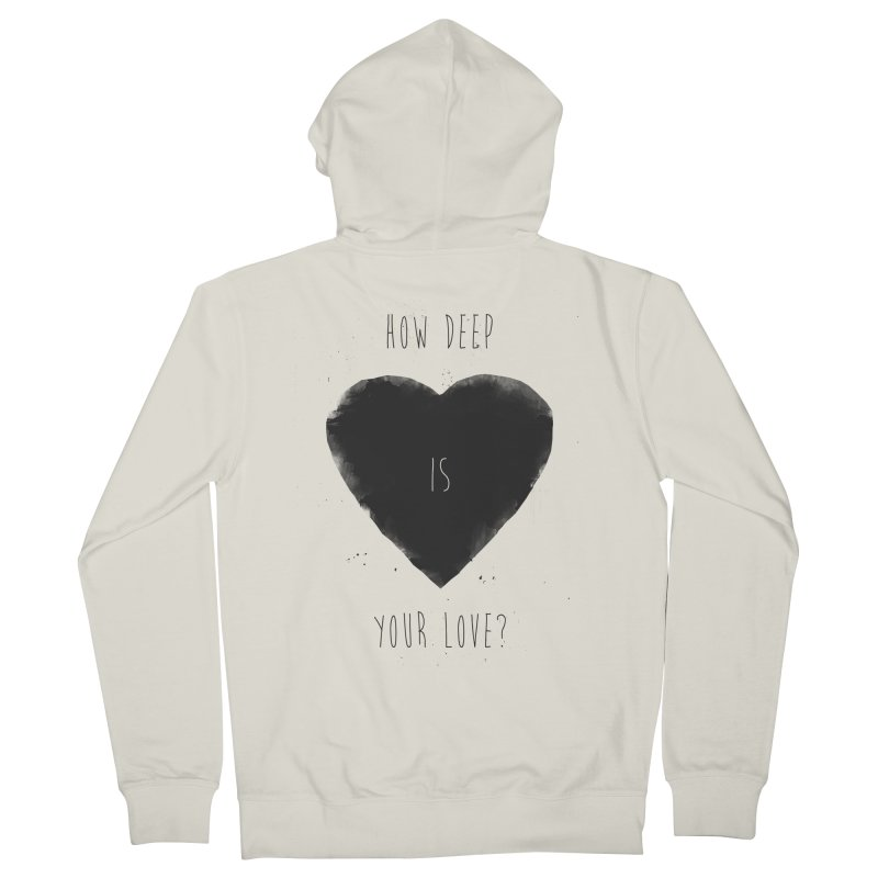How deep is your love? Women's French Terry Zip-Up Hoody by Balazs Solti