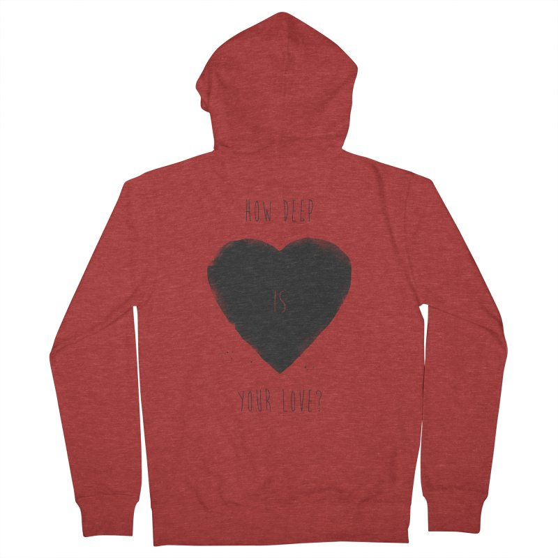 How deep is your love? Men's French Terry Zip-Up Hoody by Balazs Solti