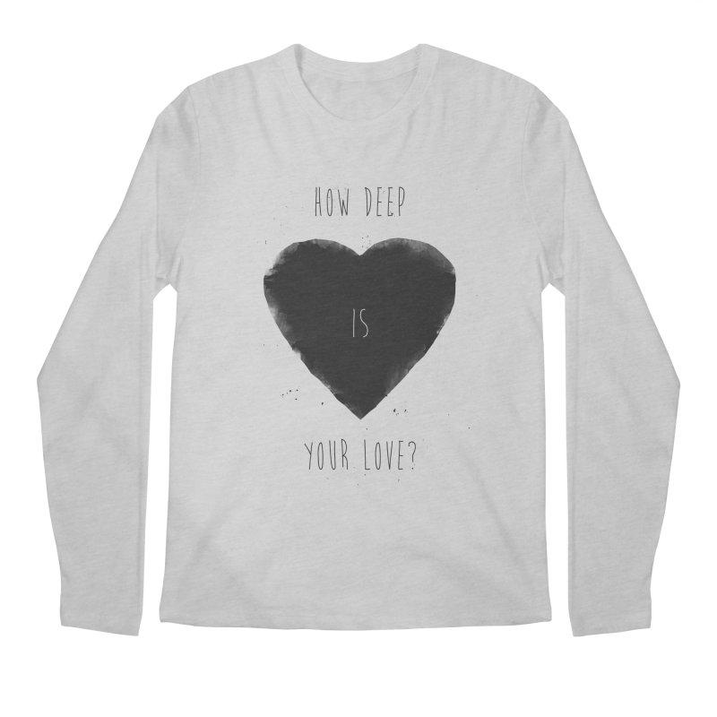 How deep is your love? Men's Regular Longsleeve T-Shirt by Balazs Solti