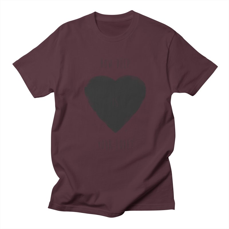 How deep is your love? Men's Regular T-Shirt by Balazs Solti