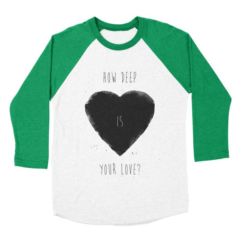 How deep is your love? Women's Baseball Triblend Longsleeve T-Shirt by Balazs Solti