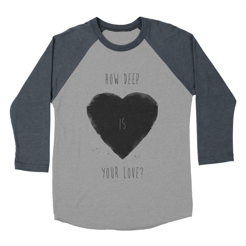 How deep is your love? Men's Baseball Triblend Longsleeve T-Shirt by Balazs Solti
