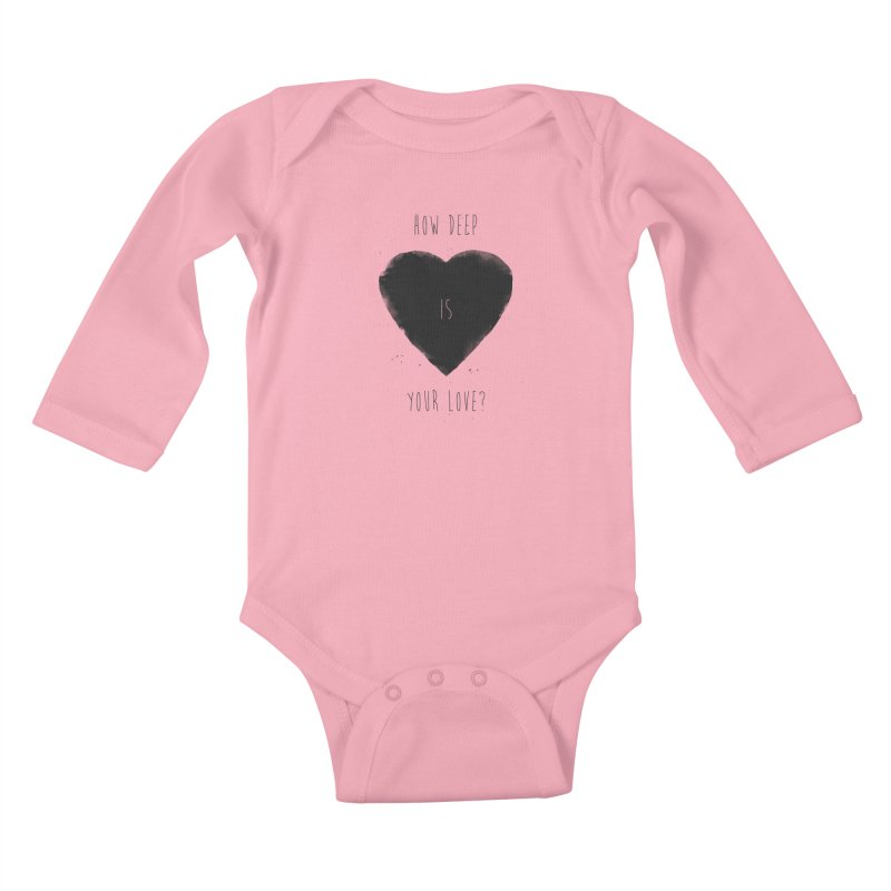 How deep is your love? Kids Baby Longsleeve Bodysuit by Balazs Solti