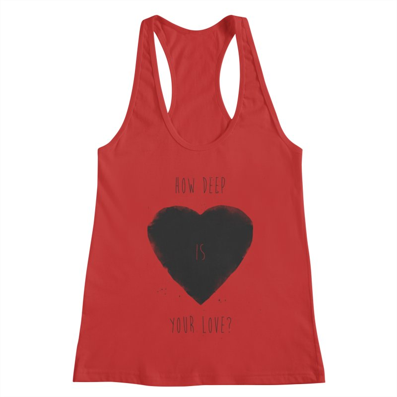 How deep is your love? Women's Tank by Balazs Solti