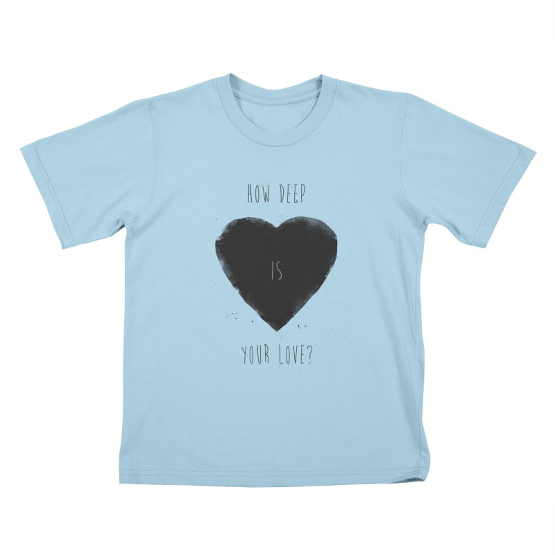 How deep is your love? Kids T-Shirt by Balazs Solti