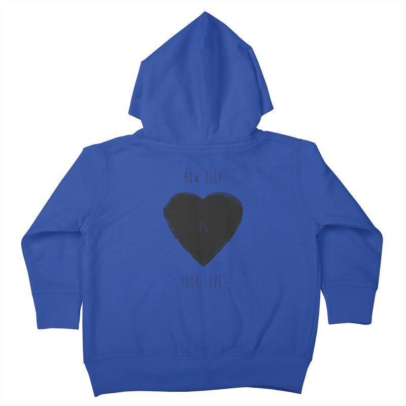 How deep is your love? Kids Toddler Zip-Up Hoody by Balazs Solti