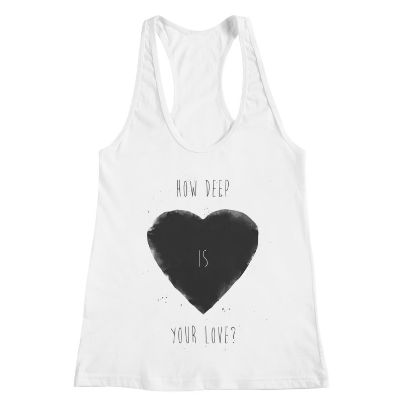 How deep is your love? Women's Racerback Tank by Balazs Solti
