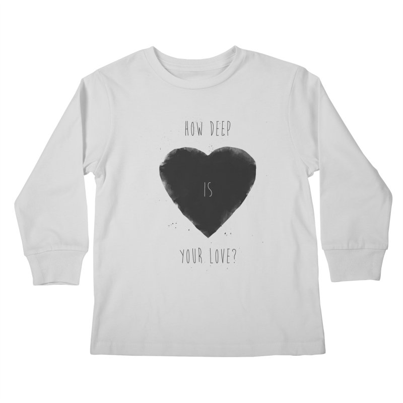 How deep is your love? Kids Longsleeve T-Shirt by Balazs Solti