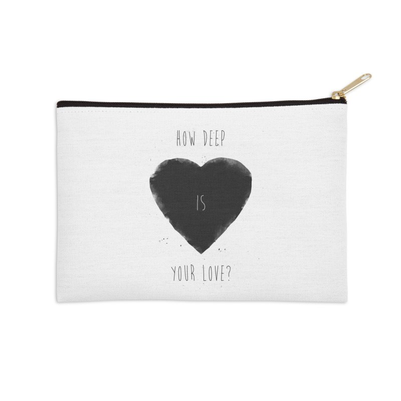 How deep is your love? Accessories Zip Pouch by Balazs Solti