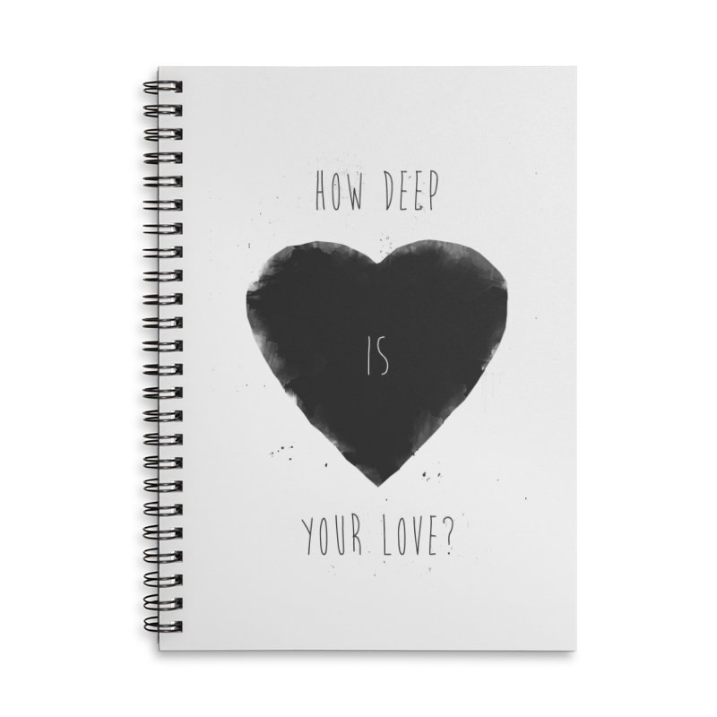 How deep is your love? Accessories Lined Spiral Notebook by Balazs Solti