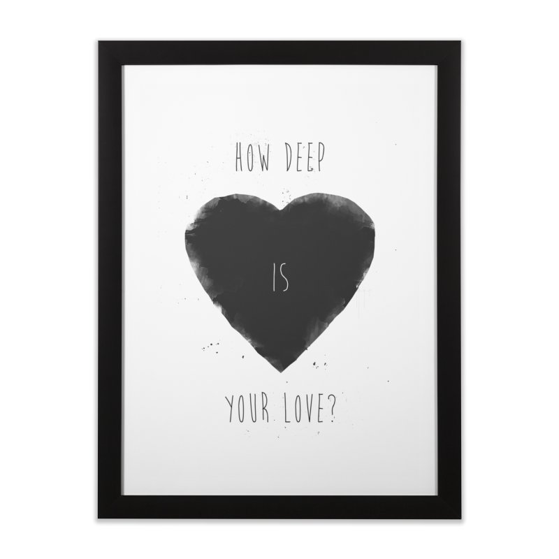 How deep is your love? Home Framed Fine Art Print by Balazs Solti