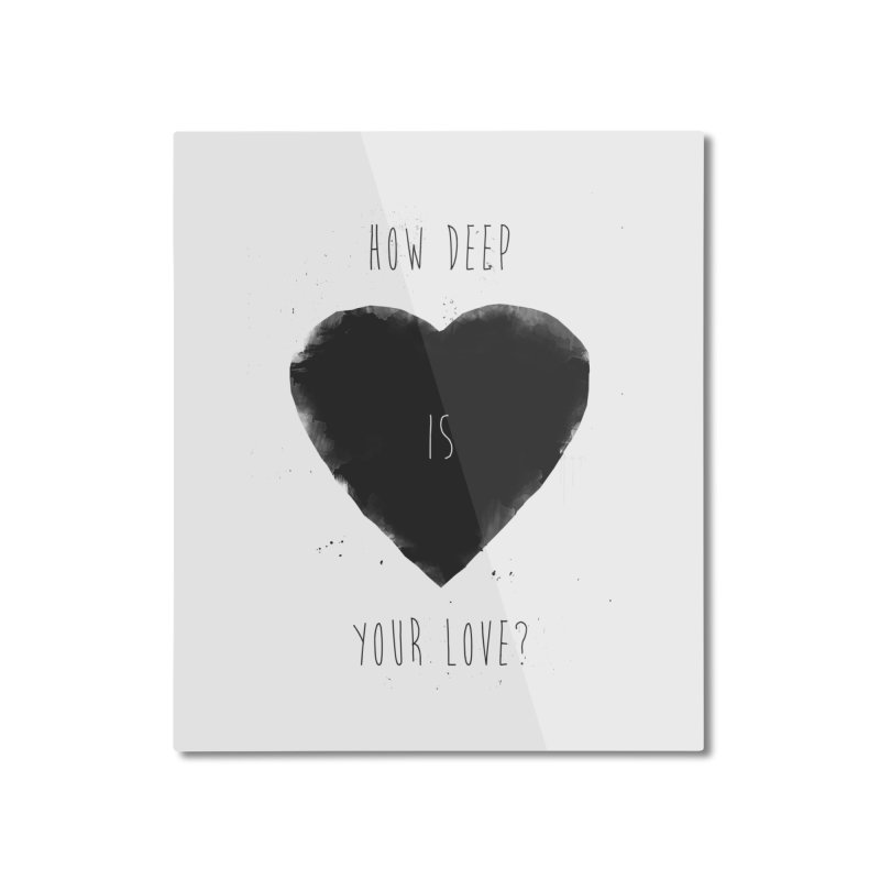 How deep is your love? Home Mounted Aluminum Print by Balazs Solti