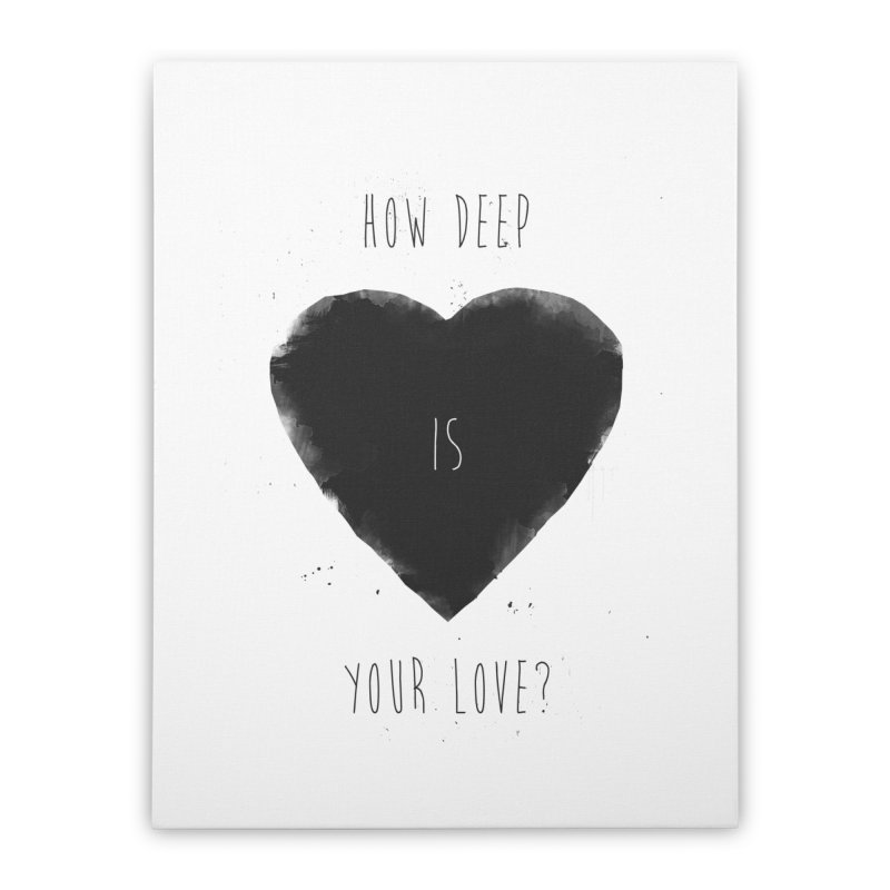 How deep is your love? Home Stretched Canvas by Balazs Solti