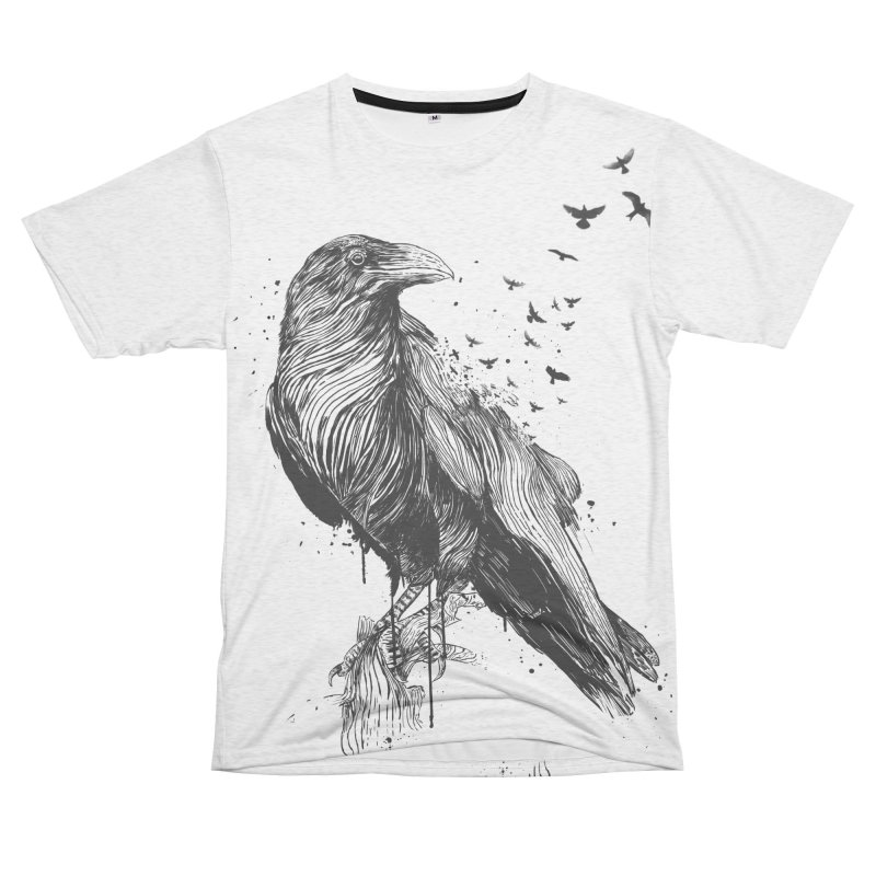 Born to be free Women's Unisex French Terry T-Shirt Cut & Sew by Balazs Solti