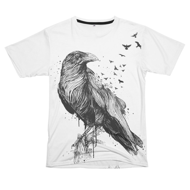 Born to be free Women's Unisex T-Shirt Cut & Sew by Balazs Solti