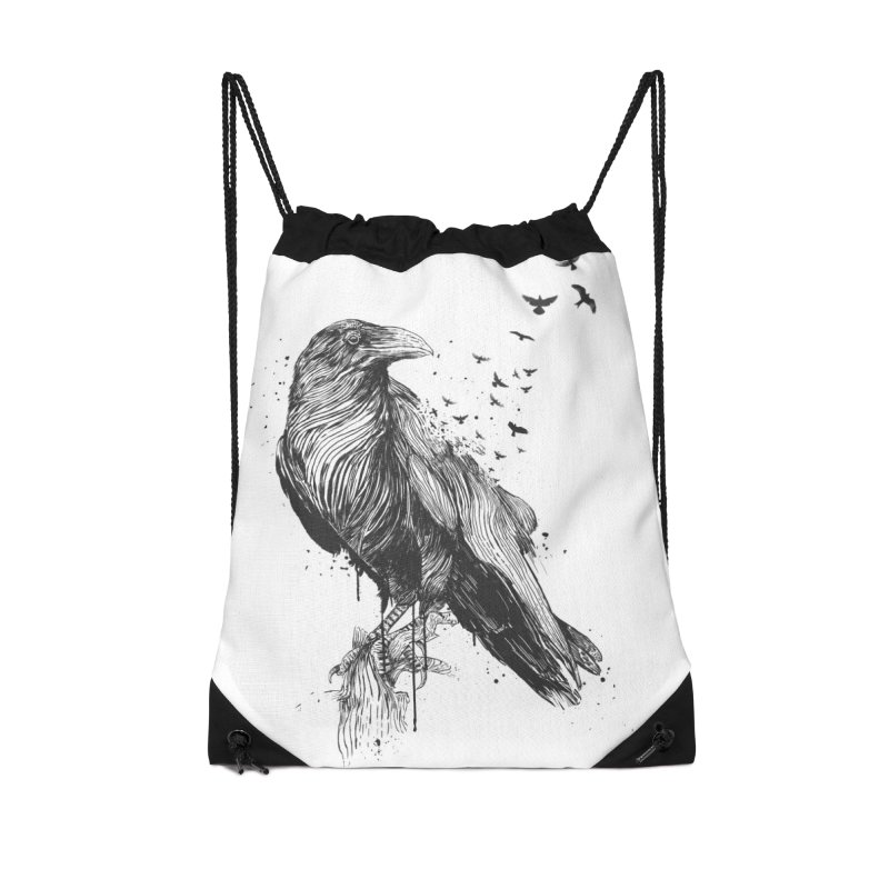 Born to be free Accessories Drawstring Bag Bag by Balazs Solti