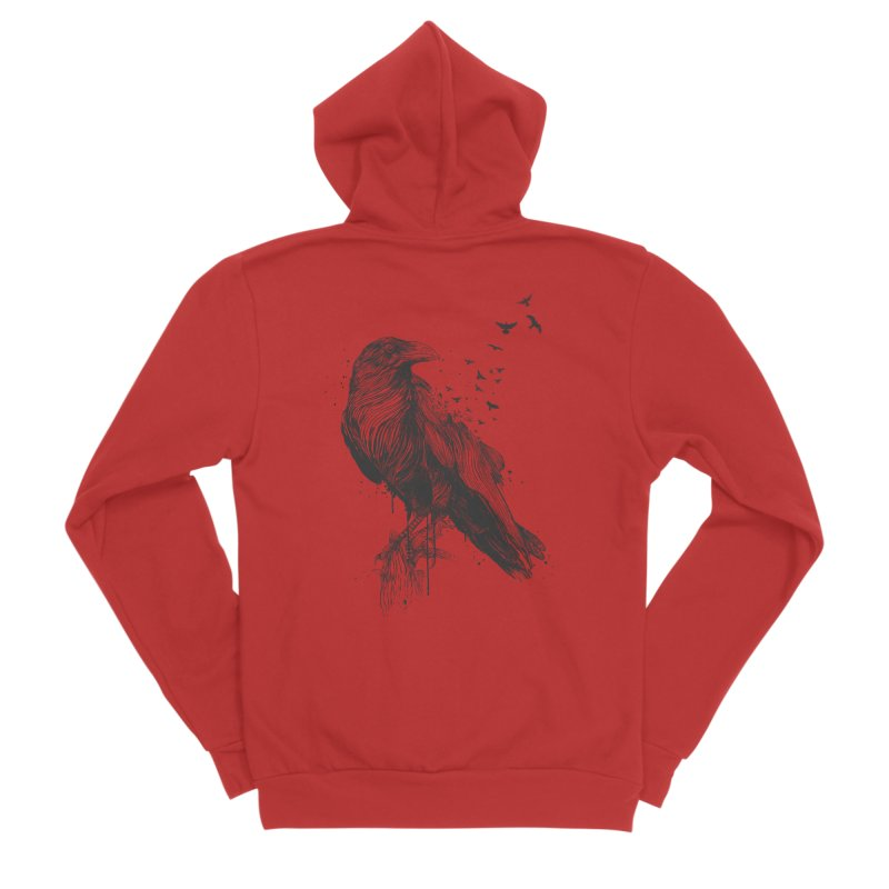 Born to be free Women's Zip-Up Hoody by Balazs Solti