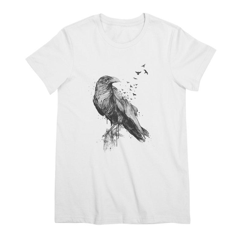 Born to be free Women's Premium T-Shirt by Balazs Solti