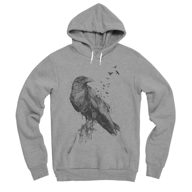Born to be free Men's Sponge Fleece Pullover Hoody by Balazs Solti