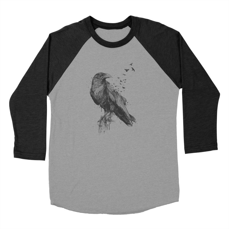 Born to be free Men's Baseball Triblend Longsleeve T-Shirt by Balazs Solti