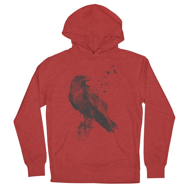 Born to be free Women's French Terry Pullover Hoody by Balazs Solti