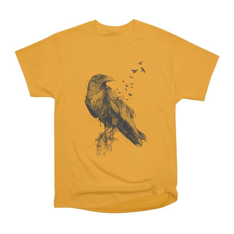 Born to be free Men's Heavyweight T-Shirt by Balazs Solti