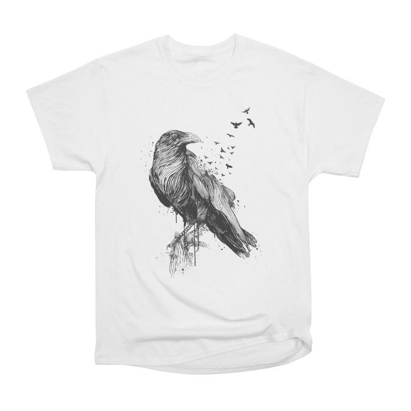 Born to be free Women's Heavyweight Unisex T-Shirt by Balazs Solti