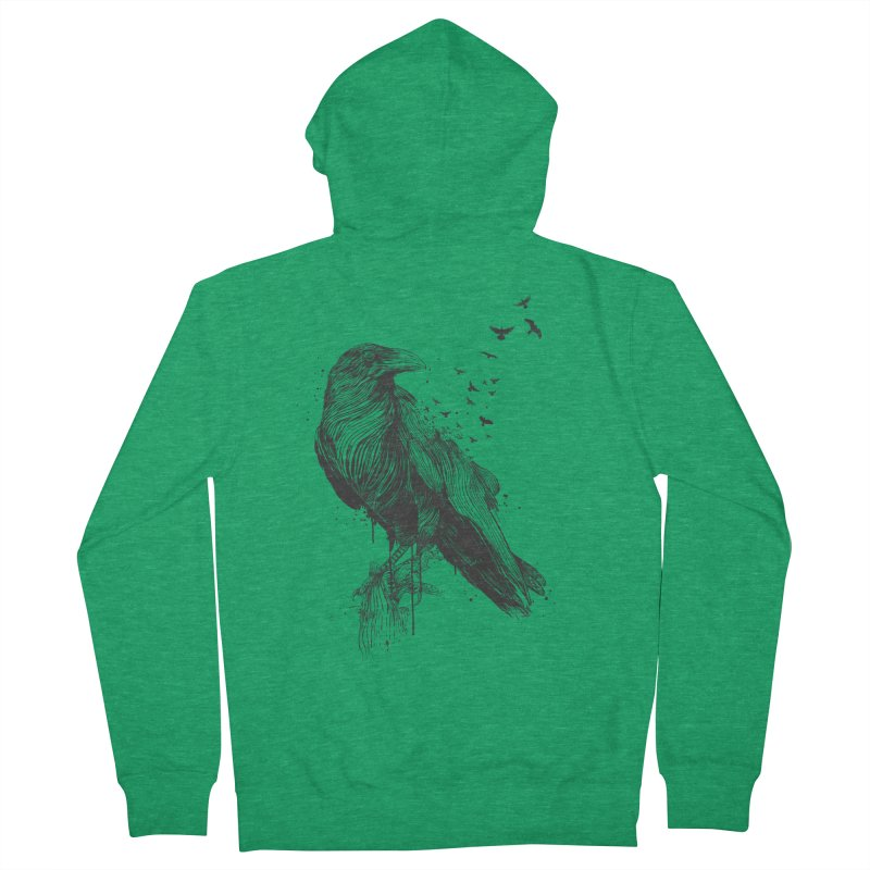 Born to be free Men's French Terry Zip-Up Hoody by Balazs Solti