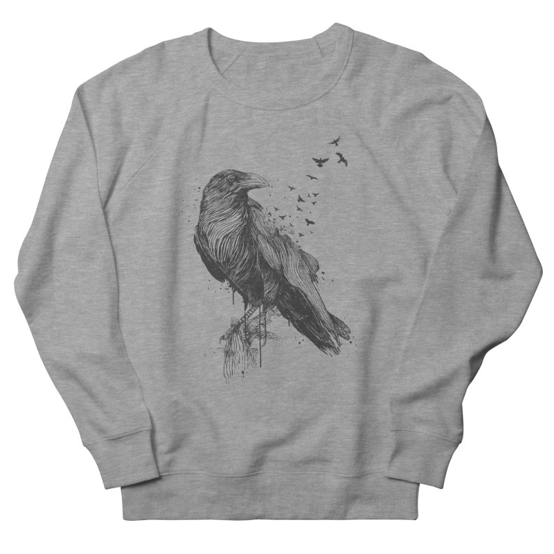 Born to be free Women's French Terry Sweatshirt by Balazs Solti