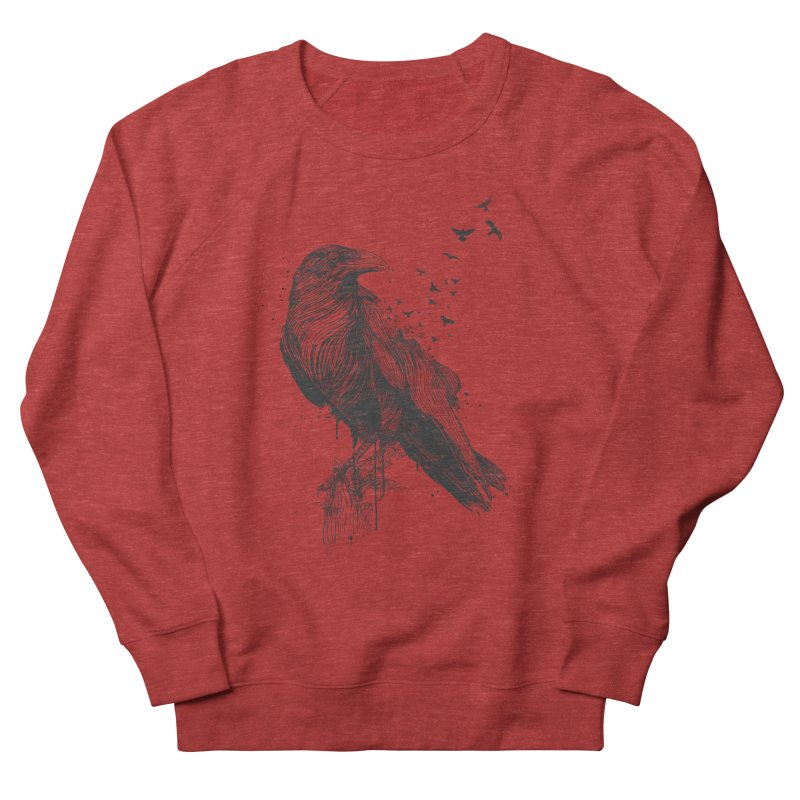 Born to be free Men's French Terry Sweatshirt by Balazs Solti