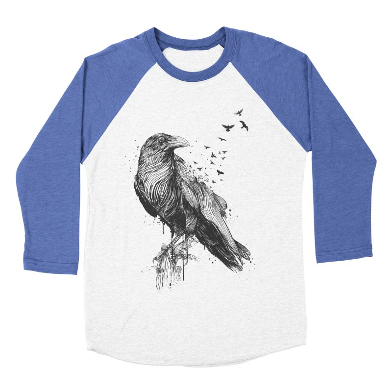 Born to be free Women's Baseball Triblend Longsleeve T-Shirt by Balazs Solti