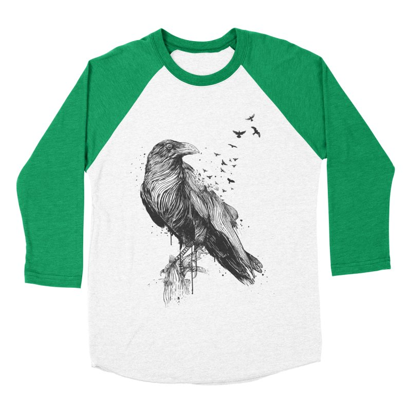 Born to be free Men's Baseball Triblend Longsleeve T-Shirt by Balazs Solti