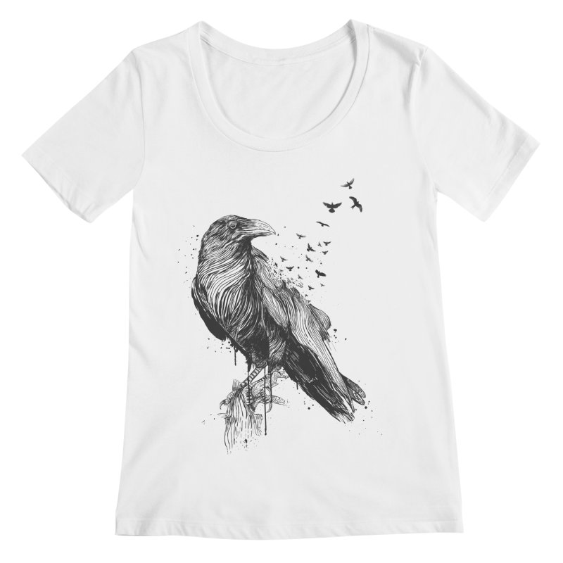 Born to be free Women's Regular Scoop Neck by Balazs Solti