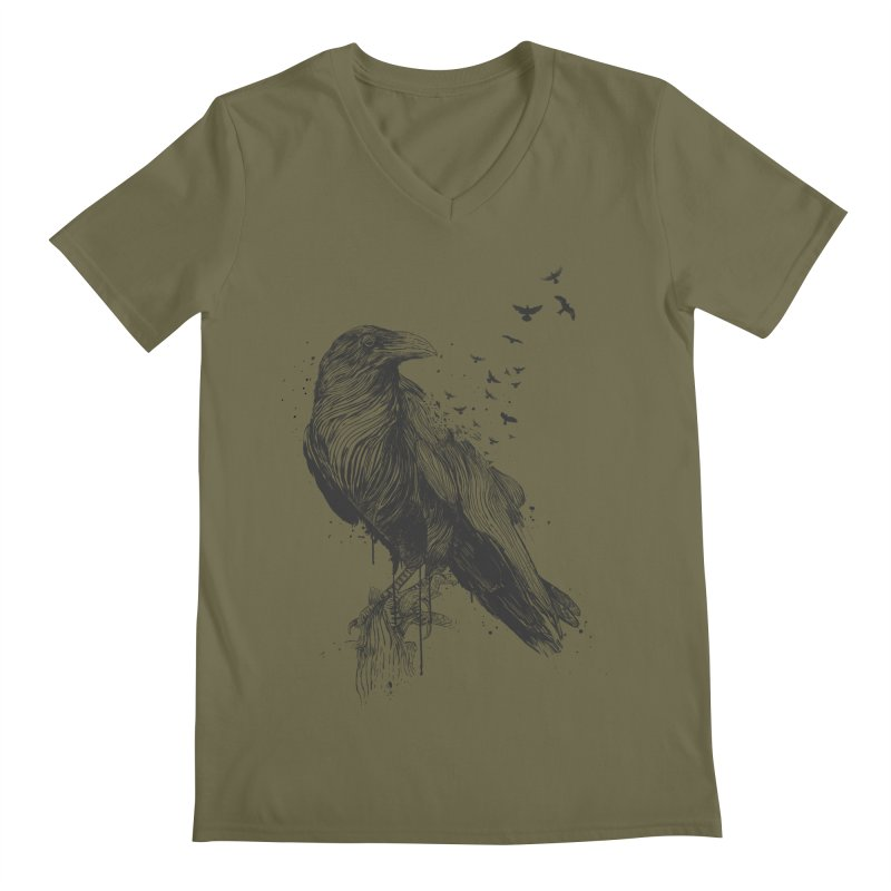 Born to be free Men's Regular V-Neck by Balazs Solti